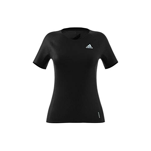 adidas Damen ADI Runner Tee Unterhemd, Schwarz, XXS