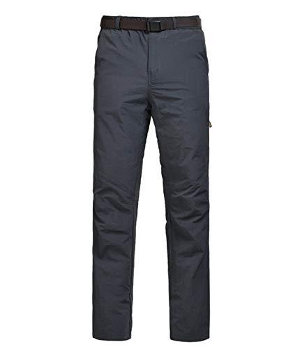 SHOULIEER Men Hiking Camping Mountain Fishing Outdoor Pants Elastic Trousers Gray 5xl