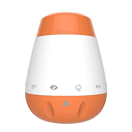 AIPZDJ USB Soundmaschine Tragbar Wiederaufladbar White Noise Machine Musiktherapie 6 Beruhigend Geräusche Baby Schlafen Schnuller zum Baby