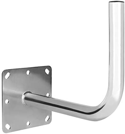 Diesl.com - Soporte parabolica Sarir en L SP50 | para Antenas de 100-110 cm | Medidas de 500 x 400 mm | Diámetro de 50 mm.