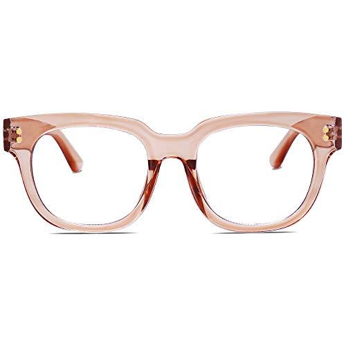 SOJOS Oversized Square Anti Blue Light Blocking Glasses for...