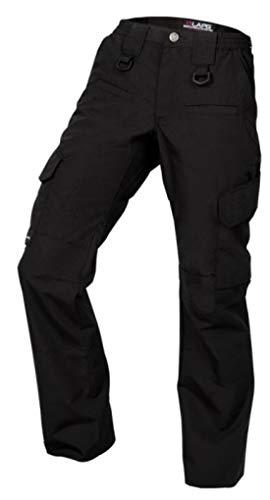LA Police Gear Women's Operator Pant with 8 Pockets and Elastic Waist - Black-10-REG