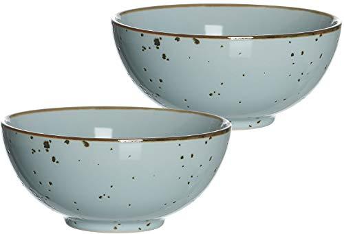 Ritzenhoff & Breker Schalen-Set Buddha-Bowls Xico, 2-teilig, je 950 ml, Hellblau, Keramik
