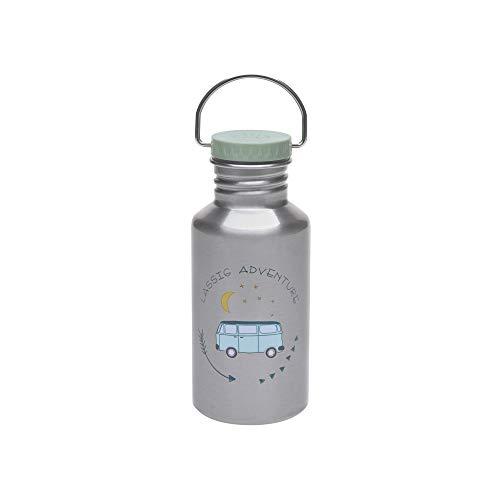 LÄSSIG Edelstahlflasche mit zusätzlichem Sport Cap 500 ml/Bottle Stainless Steel Adventure Bus