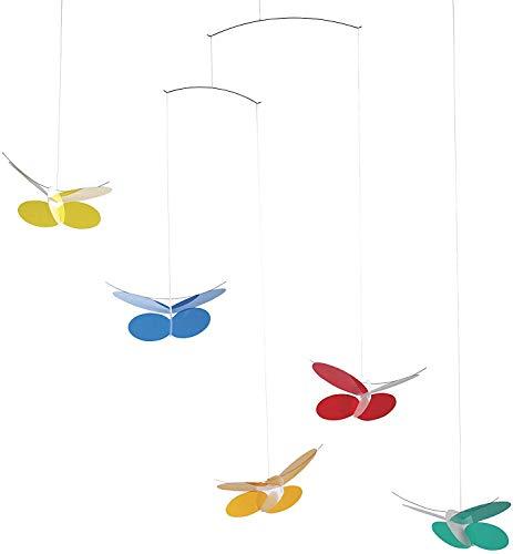 Flensted Mobiles Butterflies Mobile, Stahl, Mehrfarbig, 68x45 cm
