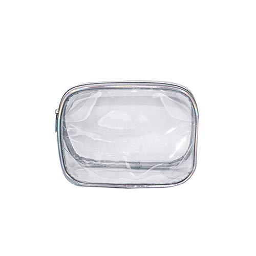 XZP Waterproof PVC Leser Large Capacity Wash Storage Bag Travel Bath Cosmetic Zipper Toiletry Organizer Transparent Makeup Bag SmallSize23*10*17cm