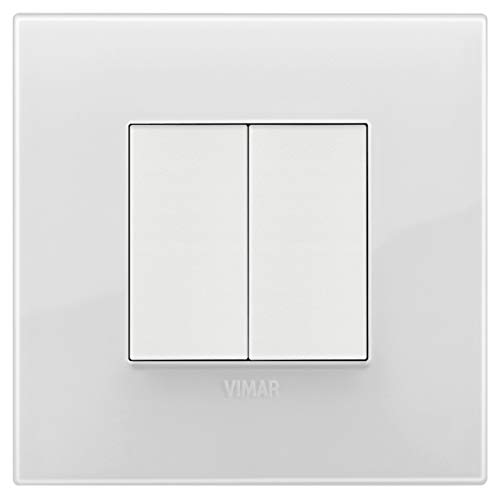 VIMAR 0K03925.05 Arké Kit comando connesso, senza fili e senza batterie, VIEW Wireless standard Bluetooth completo di supporto, tasti, placca 2M, Grigio Bianco