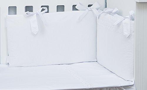 Vizaro - Conjunto de Protector, Funda Nórdica, Relleno Nórdico y Almohada Cuna 60x120 cm - 100% Algodón - 5 Piezas - Med. 90x120cm - Hecho UE, OekoTe