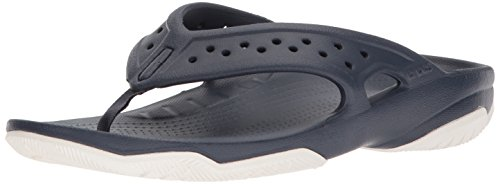 Crocs Swiftwater Deck Flip Men, Hombre Sandalia, Azul (Navy/White), 42-43 EU