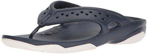Crocs Swiftwater Deck Flip Men, Hombre Sandalia, Azul (Navy/White), 42-43 EU