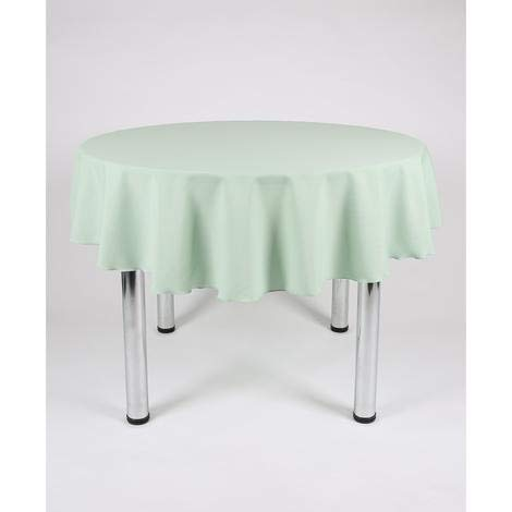 Hope Textiles Mint Green 54' Diameter (137cm) Small Round Fabric TABLECLOTH/TABLE CLOTH (Polyester, not cotton)