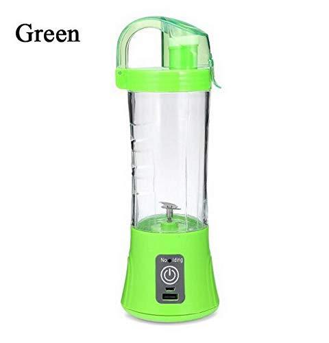 Draagbare Juicer Plastic Juice Machine met Sealing Cup Cover Fruit Mixer Smoothie Maker USB Oplaadbare Multi-Functie, Groen, Groen