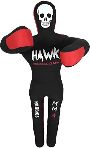 Hawk Sports Grappling Dummy BJJ Wrestling Dummy Punching Bag Submission MMA Brazilian Jiu Jitsu Judo Karate Throwing Boxing Dummy Dummies 6ft UNFILLED (Mr.Bones)