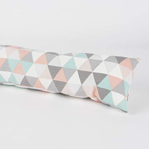 SCHÖNER LEBEN. Zugluftstopper Pastell Dreiecke Verschiedene Größen, Auswahl:110cm Länge