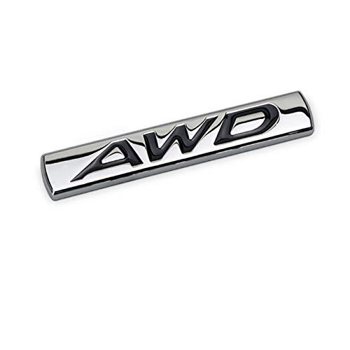 Dsycar 3D Metal AWD Logo Emblem Tailgate Side Sticker Badge Car Decals - Chrome Finish Metal Emblem AWD Badge for 4 Wheel Drive SUV Off Road Tailgate (#1)