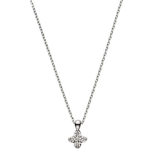 [ヴァンドーム青山] プラチナ ネックレス APVN200140DI フラワーダイヤモンドネックレス