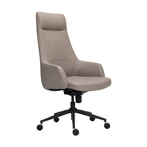 Office Chair Ergonomic Desk Chair Leathe...