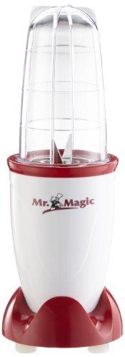 GOURMETmaxx Mr. Magic Smoothie Maker incl. tapa de frescura, batidora de pie con 8 funciones, incl. función To-Go con tapa de frescura [400 Watt]