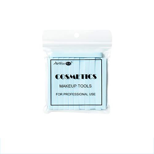 Set van 12 gecomprimeerde gezichtssponzen gezicht wassen pad make-up remover bladerdeeg blauw