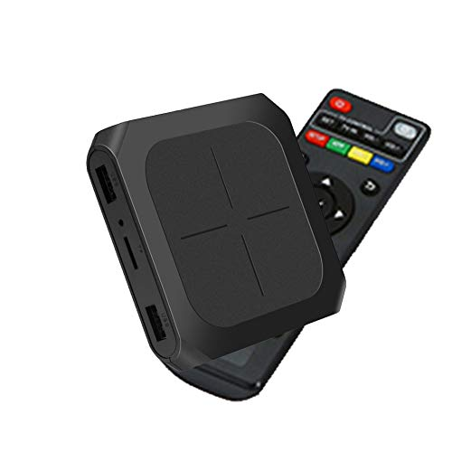 CYGJ Smart Android 7.1 TV Box Amlogic S905W Quad-Core 64-Bit ARM Cortex-A53 1GB Ram 8GB ROM Support Wifi 2.4Ghz 5GHZ Ultra HD H.265 Smart Media Player