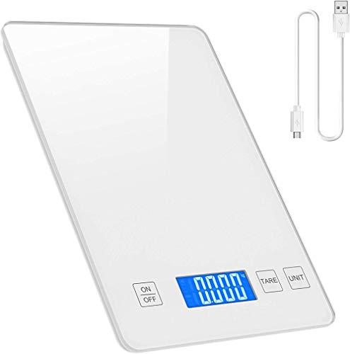 Báscula de cocina digital abester, báscula de cocina de 33 lb / 0,1 oz, báscula de precisión, pantalla LCD retroiluminada de vidrio templado impermeable, adecuada para cocinar y hornear