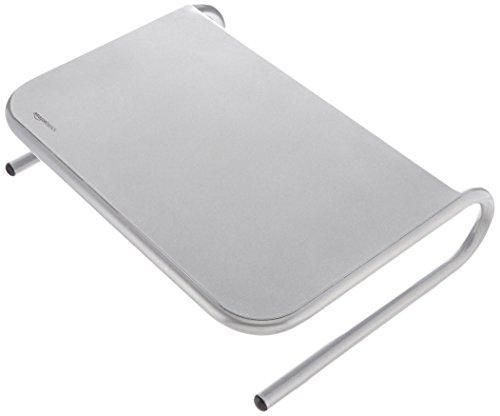AmazonBasics - Soporte de metal para monitor, color plateado
