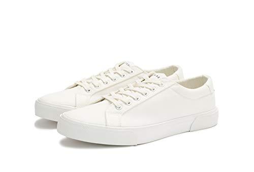New Republic Men's Ellroy Canvas Sneaker - White (10)
