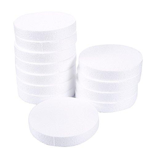 Círculos de espuma, suministros para artes y manualidades (6 x 6 x 1 pulgada, 12 unidades)