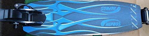 Hepros Air Fully Scooter 205 mm, neumáticos de ciudad, para adultos, color blanco, rodamientos ABEC7 (azul)