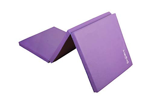 HemingWeigh 3 Fold Gymnastic Mats for Home and Gym AllPurpose AntiTear 15 Inch Thick High Density Exercise Mat for Aerobics Yoga and Workout Purple