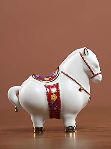 Garden Sculptures & Statues Outdoor Statues Keramiek Paard Retro Wit Paard Decoratie Kantoor Aan Huis Decoratie Ornamenten Ambachten Geschenken