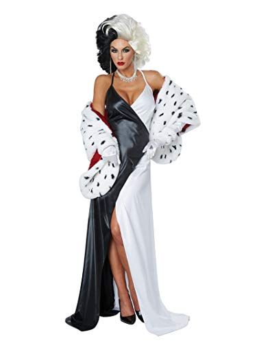 California Costumes Women's Cruel Diva/Adult, Black/White/RED, Medium