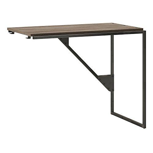 Bush Furniture Refinery 37W Industrial Desk Return in Rustic Gray