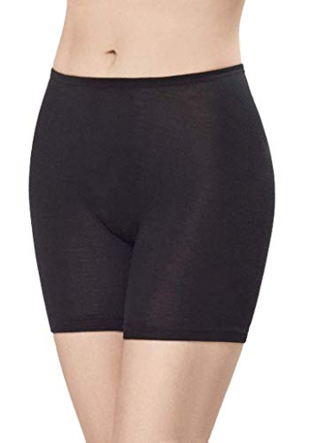 Utenos 100% Merino Wool Women's Base Layer Extended Underpants Made in EU (Black, L)