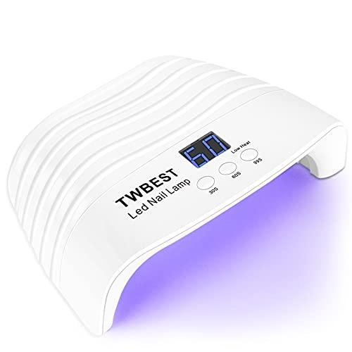 Lampara LED Uñas,Lámpara Led de Uñas UV LED,con Función de Temporización - 30S   60S   99S Para Manicura Pedicure Nail Art Hogar el Salón,54W Lámpara Secador de Uñas