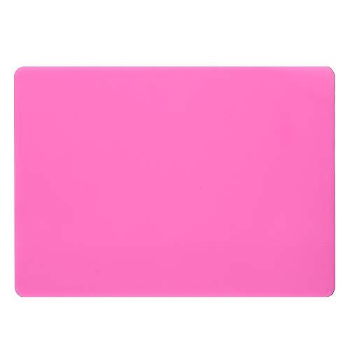 POFET 2 alfombrillas de silicona extra grandes, almohadillas de silicona de grado alimenticio, inodoras, manteles individuales para mascotas, protector de encimera para manualidades, joyas, color rosa