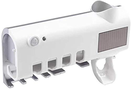 Relaxbx Sterilisatielamp UV-licht ultraviolet Smart elektrische tandenborstel sterilisator tandenborstelhouder met zonne-oplader thuis badkamer set