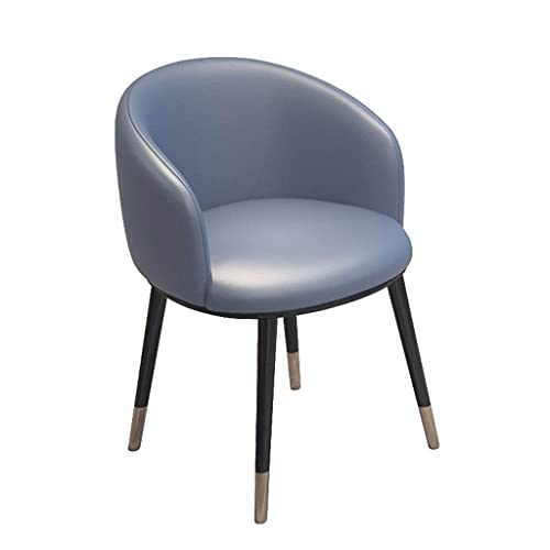 SFSGH Classic Kitchen Chairs, PU Leather Seat with U-Shaped backrest Retro Armchairs Metal Legs Dining Chair for Dining Room and Living Room