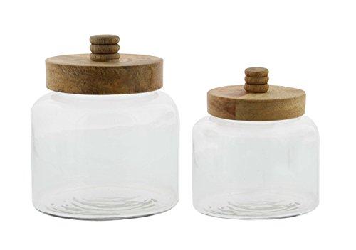 wood and glass jar - 6