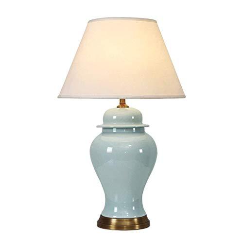 Lámpara de mesa Luz Lámparas de escritorio Luces Sala de estar de lujo americana Lámpara de mesa de cerámica Modelo Habitación Dormitorio Mesita de noche 58CM35CM Lámpara de mesa duradera Luz de mesit