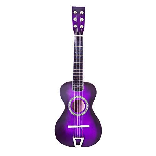 TONGJI Gitarre Kinder, Baby e-Gitarre Spielzeuggitarre,6 Saite Kindergitarre Konzertgitarre E-Gitarre Gitarre Spielzeug für Kinder Kleinkinder-Lila