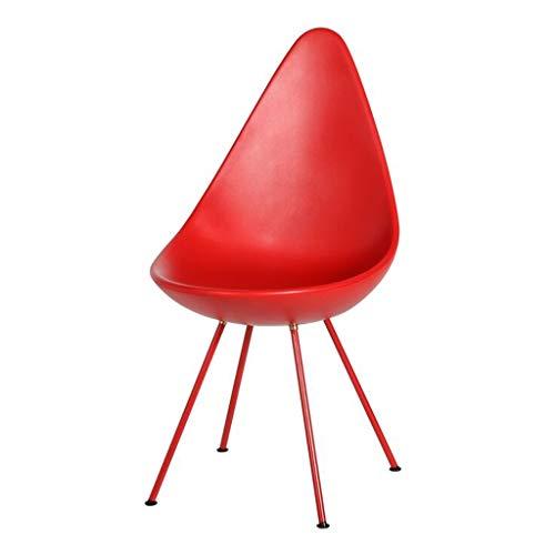 FENDOU Silla de comedor, simple silla de escritorio, respaldo creativo, silla de ocio, silla de comedor para adultos en casa (color: rojo)