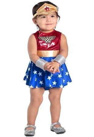 Rubie's Costume Baby Wonder Woman per bambina 18-24 mesi, Multicolore, 300687-18-24M