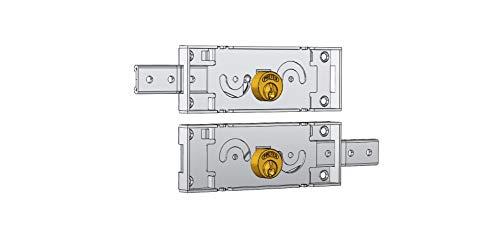 Sloten zijdelingse headset voor rolluiken. a711.0 een 39440, cilinder van messing. Uitgerust met twee sleutels. Verzinkt. Reservoir mm 155 x 55.