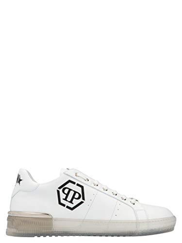 Philipp Plein Luxury Fashion Herren MSC2739PLE075N01 Weiss Leder Sneakers   Frühling Sommer 20