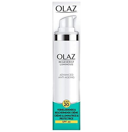 'Olay Regenerist Leuchtend - Crema de día blanqueadora y protectora (20 SPF, 50 ml)''