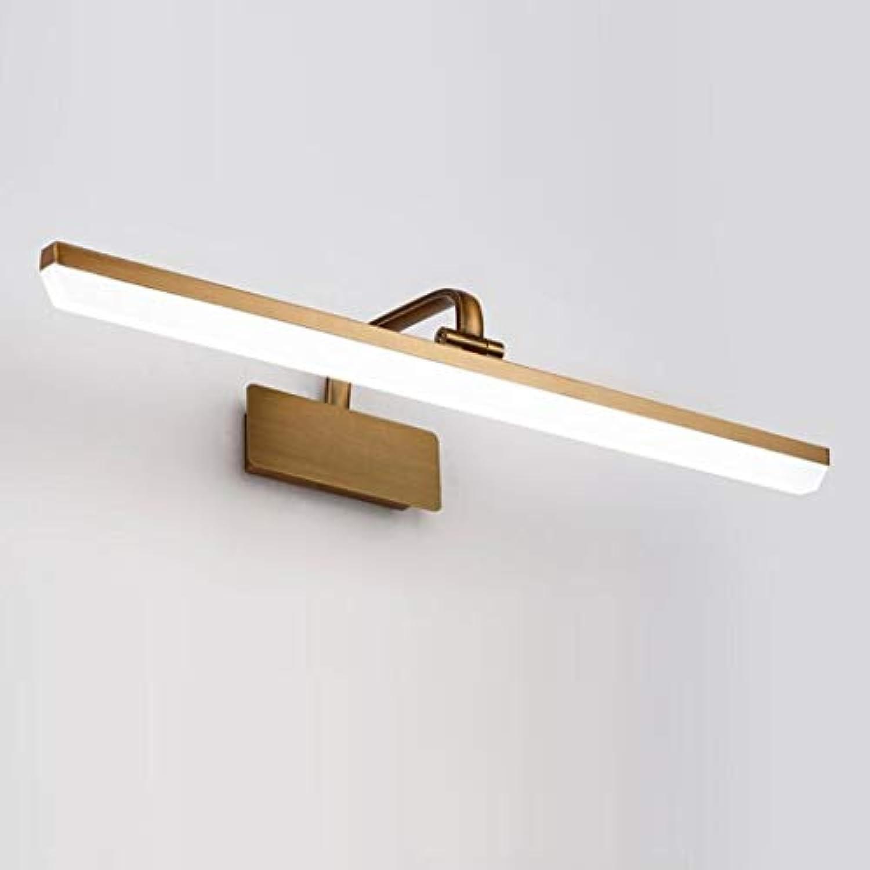 HSBAIS Badezimmer-Eitelkeits-Spiegel-Lampen, Acrylopal-Glasschatten-warmes kühles weies Licht LED-Wand-Licht, antikes l rieb Bronzebüro-Eitelkeits-Licht,Warm Light_41cm(8W)