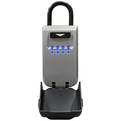 YCZDG Cerradura de Llave al Aire Libre Caja de Caja Caja de Almacenamiento Cadlock Use Light Up Dials Password Lock Keys Hook Security Organizer Cajas