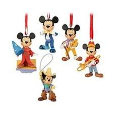 Mickey Mouse Club 5 Piece Ornament Set