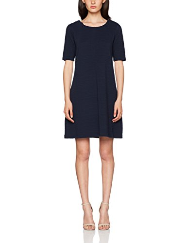 Vila Damen Vicaro A-Shape Jersey Dress-fav Kleid, Blau (Total Eclipse), 42 (Herstellergröße: XL)